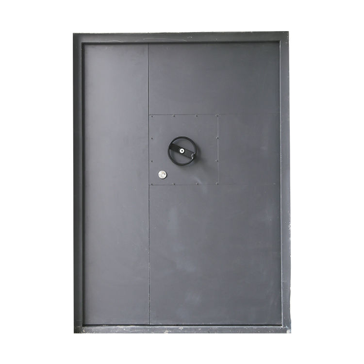 Customized blast resistant and bullet proof steel door for military