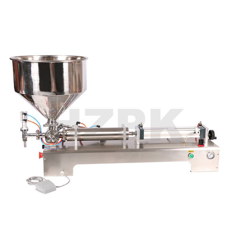 semi automatic small piston beverage honey shampoo nail cosmetic plastic paint bottle liquid paste packing and filling machine
