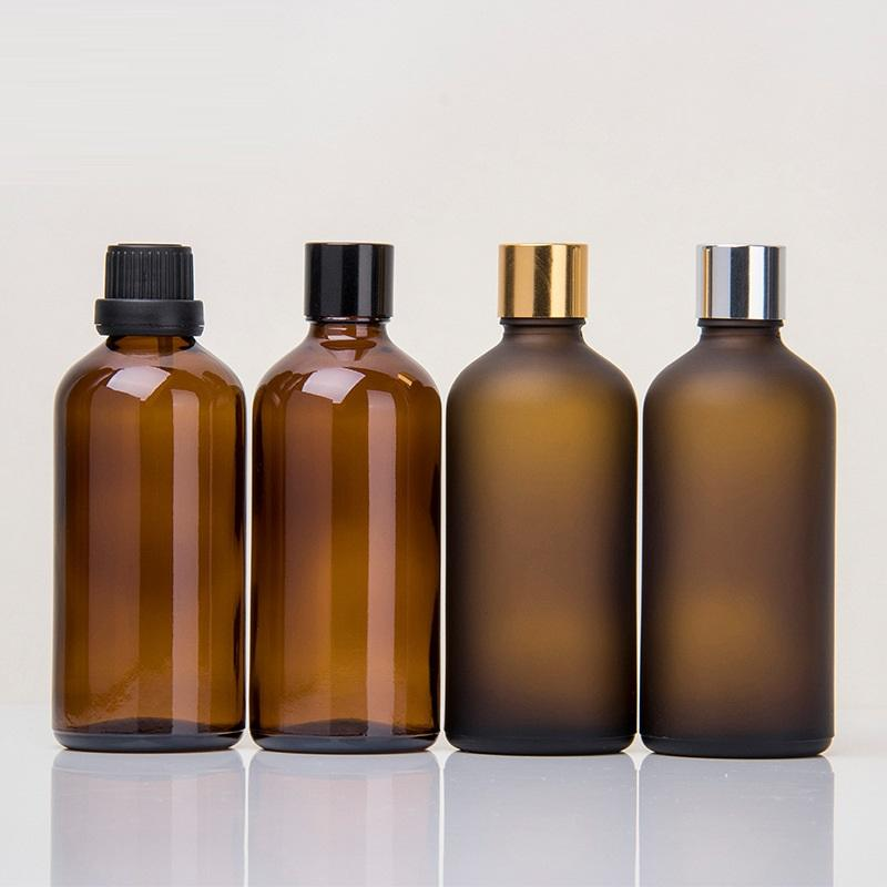 100ml Brown cosmetic bottle frosting Elite fluid bottle Glass bottle