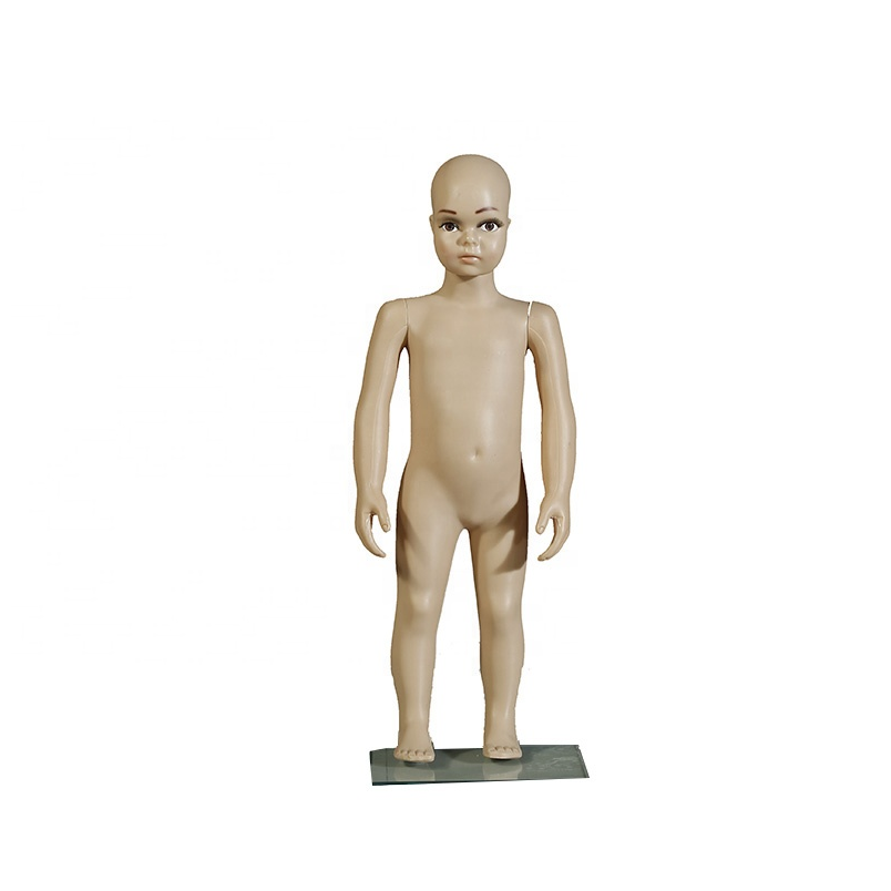 RTS Wholesale clothes store glass base arm detachable full body soft flexible manikin kids mannequin