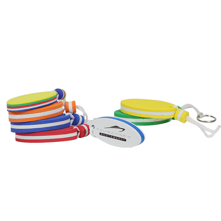 Top quality wholesale promotional sailing boat floating EVA foam key chain