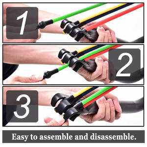 2020 Hot Sale Indoor resistance Bow Portable Home Gym Resistance Band System Heavy Set, Weightlifting and HIIT Interval Tr