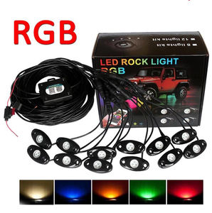 4,6,8,12 Pods Led Waterdichte Rock Licht Rgb Multicolor App Bluetooth Controle Auto Underbody Rgb Led Rock Licht