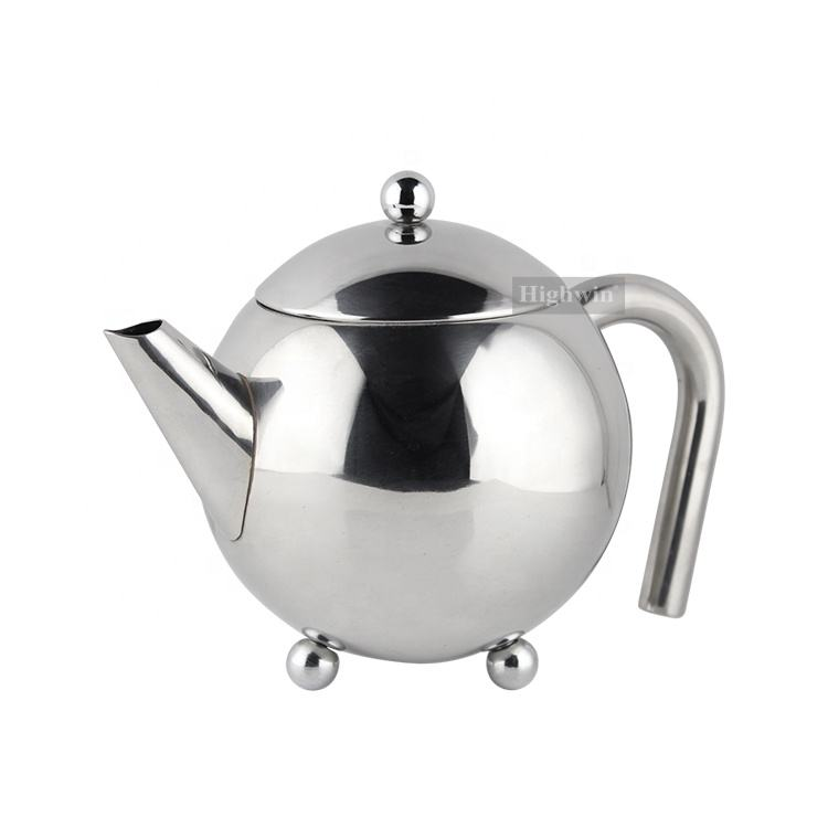 Italian Top sell Single Wall Hot Flower Tea Pot Set with Infuser