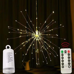 firework lamp 8 mode 4*AA battery 180 led remote control led
