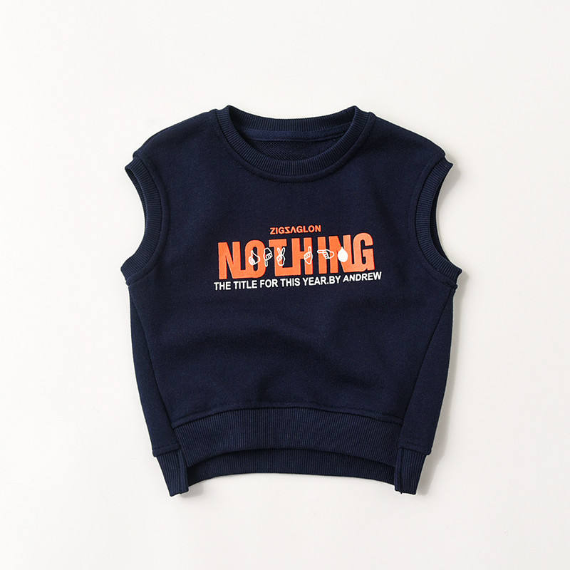 Customized Children Clothing Organic Cotton Printing Terry Kids Vest