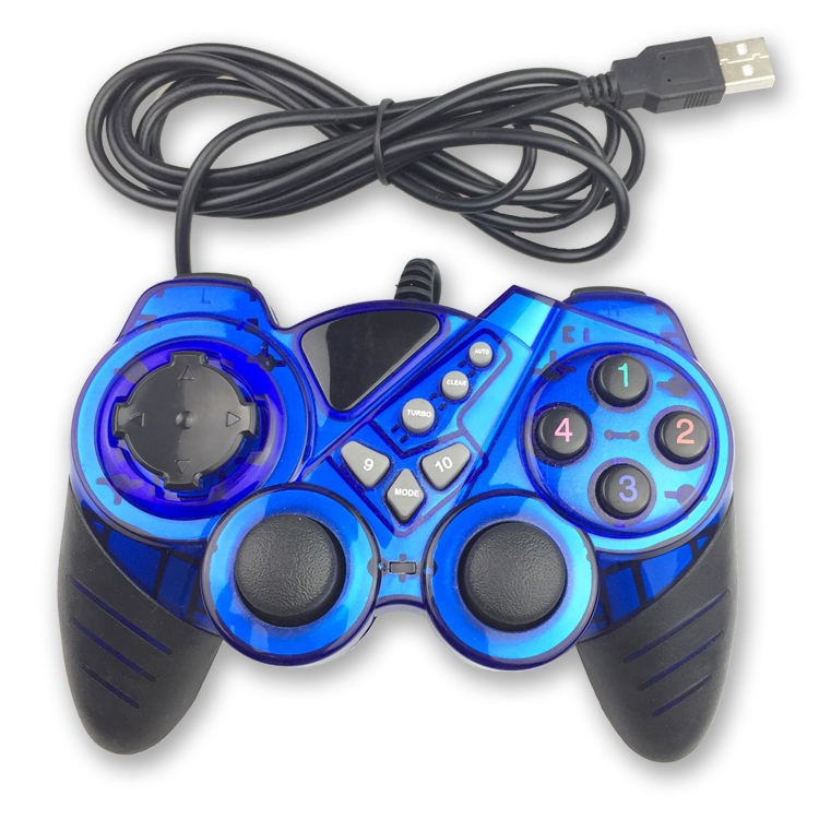 Xinyueplay Think-up brand controller gamepad usb joystick with motor vibration wired game joypads control for PC