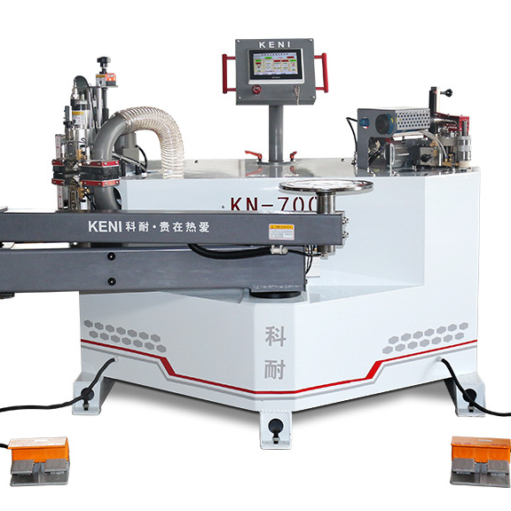 All-in-one woodworking curved straight trimming pvc wood automatic edge banding machine