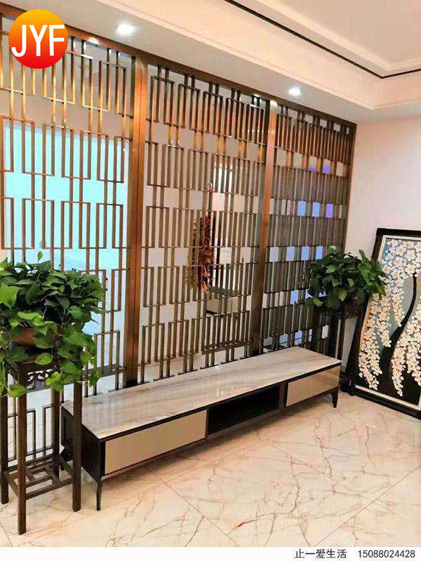 ZB0011Customized Laser Cut Stainless Steel Room Partitions Restaurant Dining Hall Room Divider Hotel Partition Wall