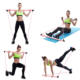 Portable Pilates Bar Kit Resistance Band Muscle Toning Bar Home Gym Pilates Body Workout