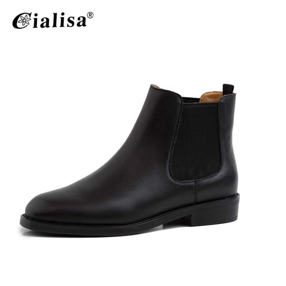 Factory Wholesale Black Brown Ladies Ankle Boots Women