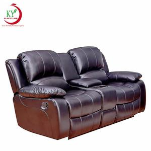 JKY Furniture 3 Pieces Synthetic Leather Lounge Chair Reclining Couch For Living Room Recliner Sofa
