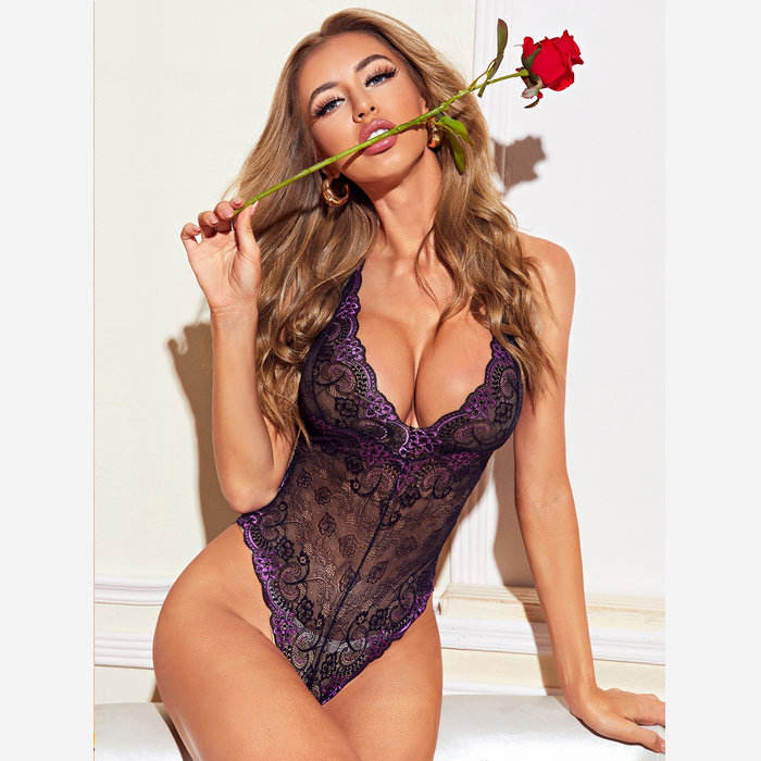 Wholesale lace bodysuit for women sexy