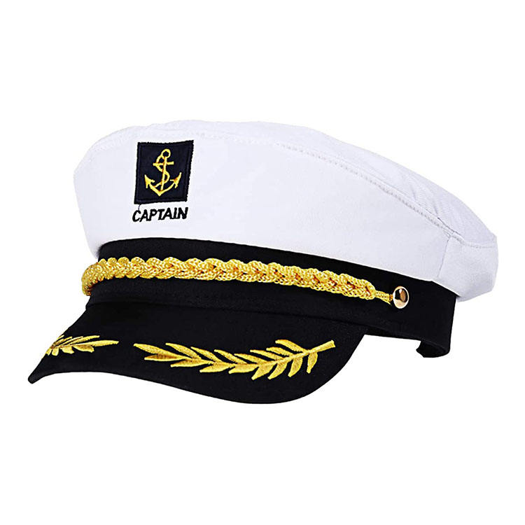 Adult Captain Hat Stain Yacht Boat Navy Sailor Sea Marine Navy Officer Cap Hat