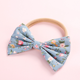 Fashion Girls Bow Printing Nylon Headband Baby soft Hair Band Accessories