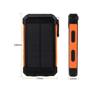Solar mobile power 20000 Mah waterproof compass mobile phone charger