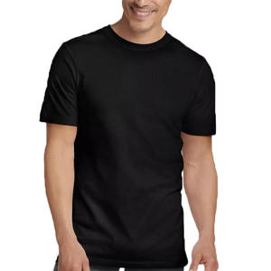wholesale black 100%cotton plain t shirt for man