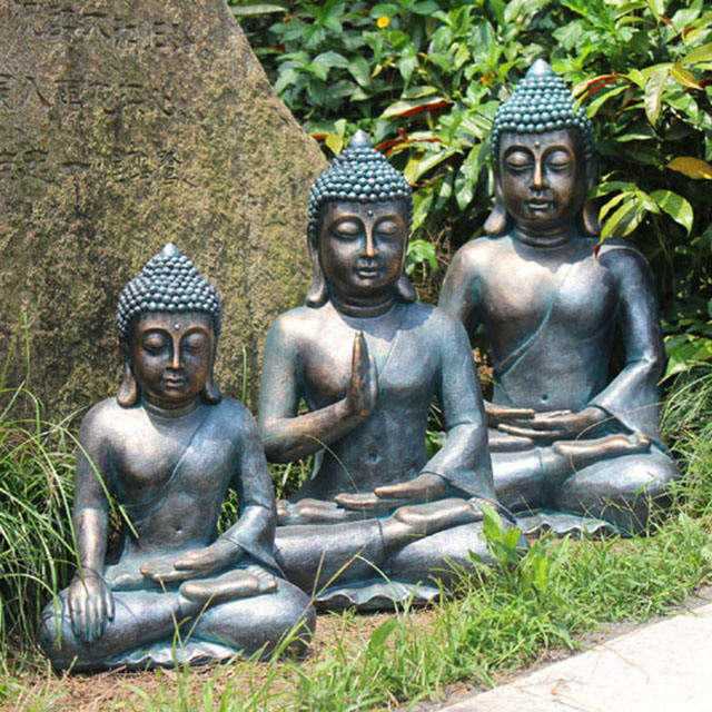 Resin large buddha garden statue for sale