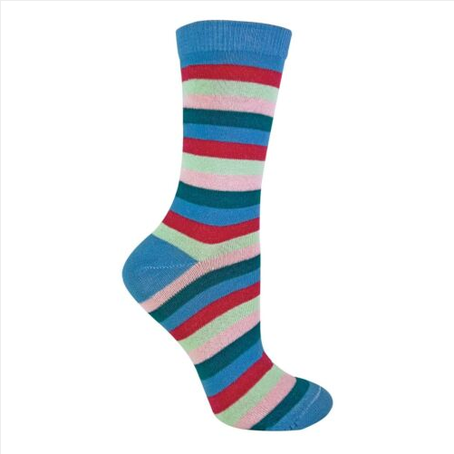 3 Pack Womens Thin Funky Colourful Striped Patterned Cotton Socks Sock Snob