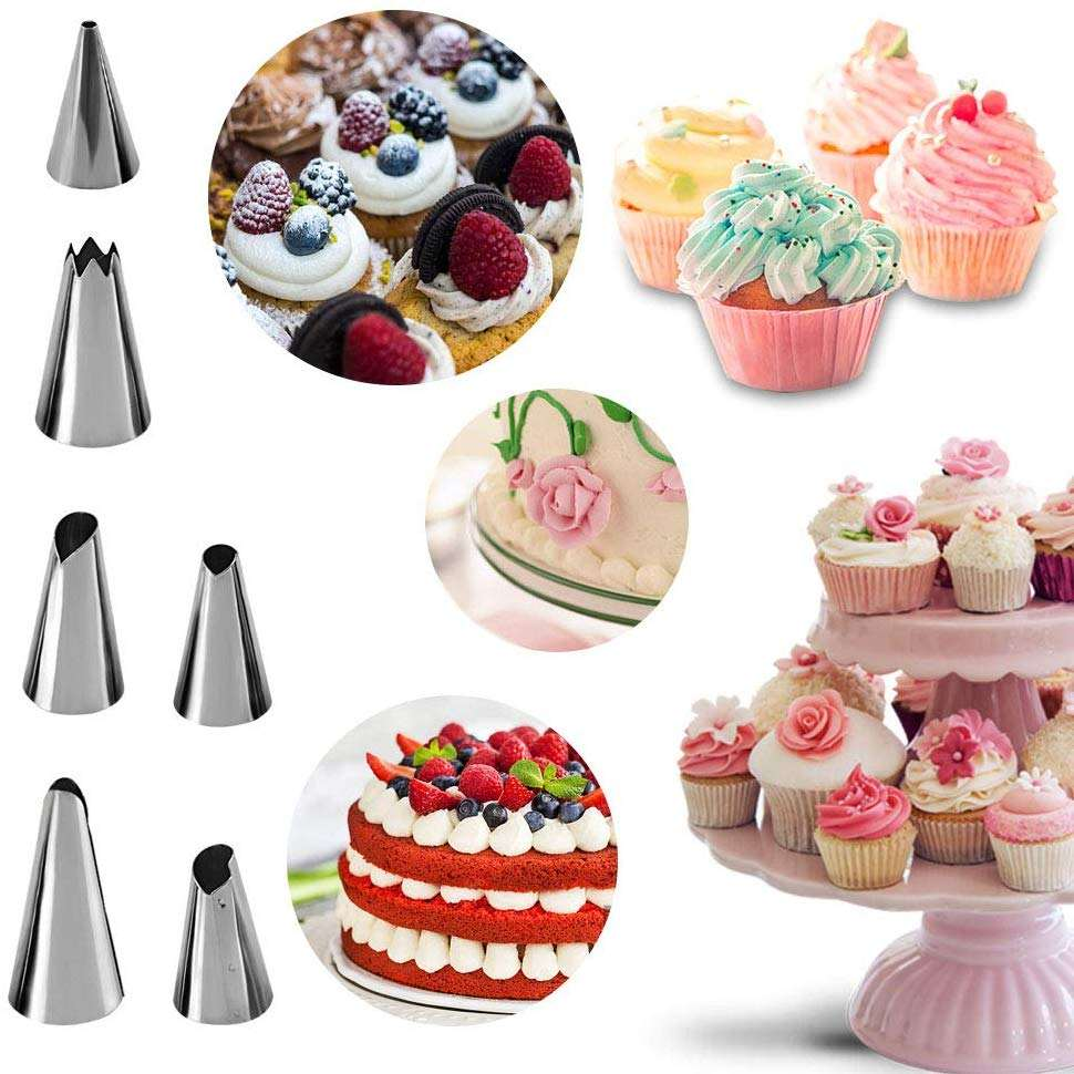 Amazon Hot Sale Cupcake Decorating Icing Tips Stainless Steel Cake Decorating Tips