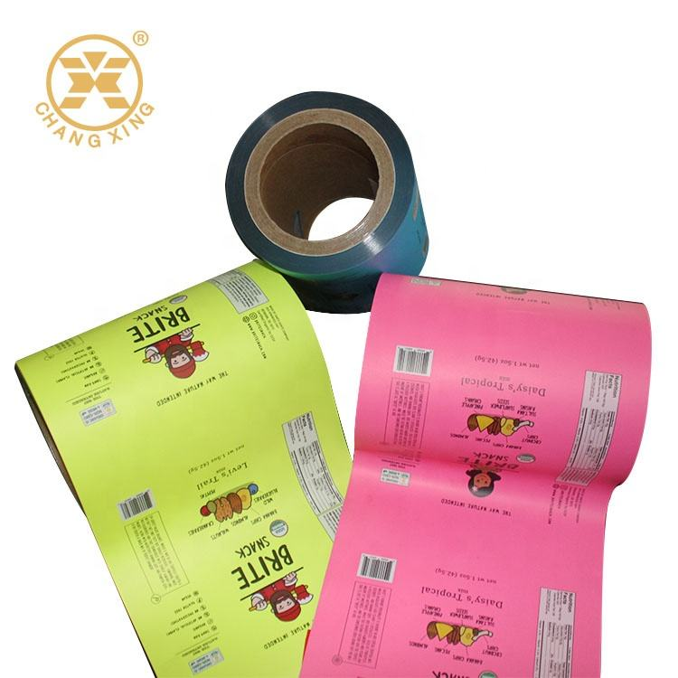 Food Safety Plastic Tomato Sauce Packaging Film Roll for Sachets Food Packaging Film For Candy Laminating Film For Coffee