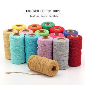 Braided Color Silk Cotton Decorative Packing used rope String Custom Black Cord * Rope