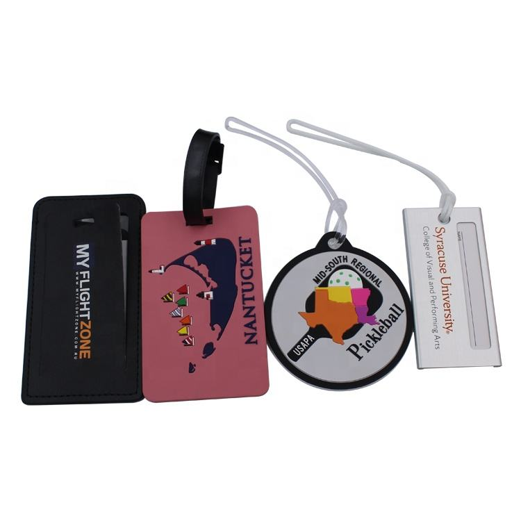 Personalized custom pu leather metal sublimation anime unicorns silicone pvc luggage tag