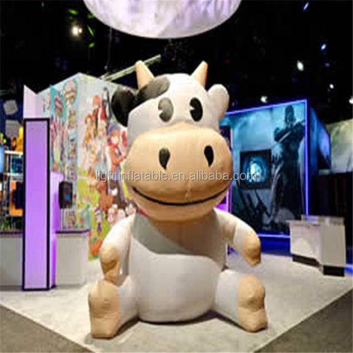 2m Event Advertising Inflatable Cow Customized Cute Cow Cartoon Inflatable For Event L113