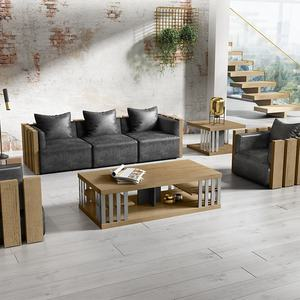 Factory direct hot sale coffee table set American loft style corner table