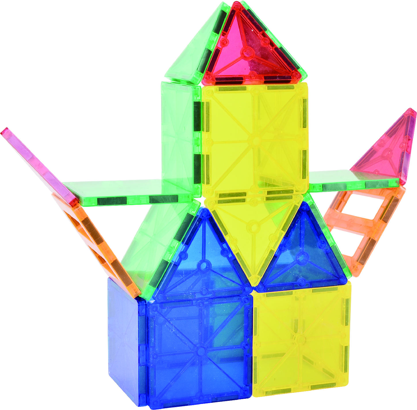 Hot selling playmager connecting Magnetic Building Blocks 3D Magnetic Building Tiles Set magna tiles toys