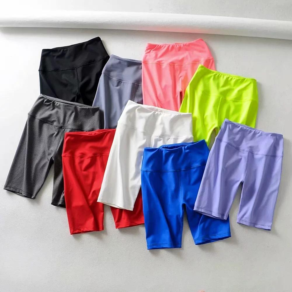 Wholesale Skinny Training Workout Gym Yoga Shorts Quick Dry Fifth Women Biker Shorts
