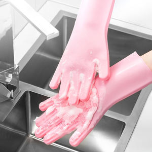 Kitchen dishiwashing latex hand gloves dishes washing household cleaning gloves