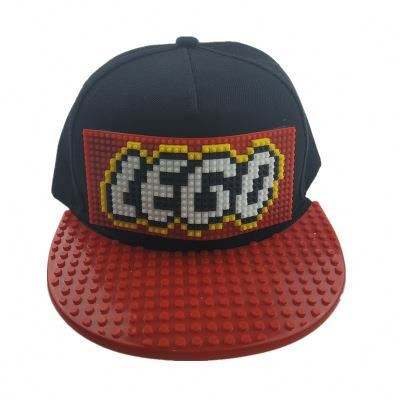 DIY hats for kids build baseball caps with blocks male and female hip hop parent-child flat brim hats
