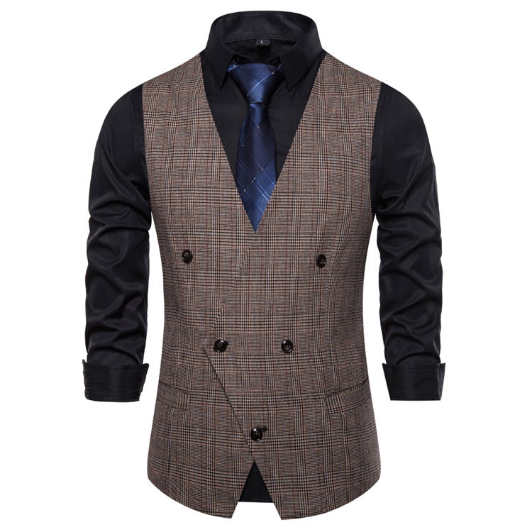 Men's Formal Business Suit Vests 5 Buttons Regular Fit Waistcoat for Suit or Tuxedo