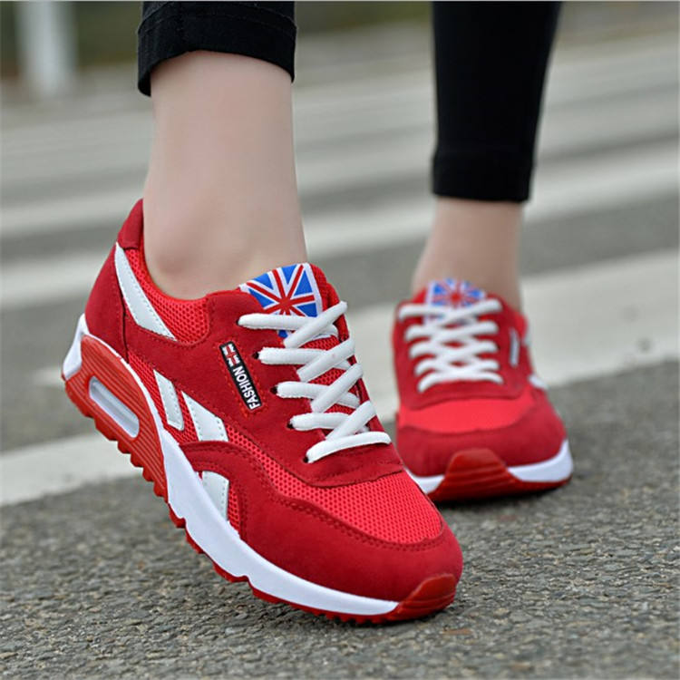 Wholesale women sneakers ladies athletic jogging walking trekking shoes anti slip causal sport shoes