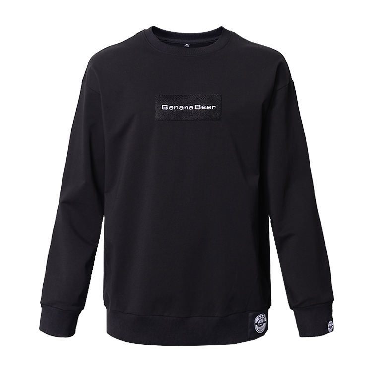 High quality pullover sweatshirts no hood,street style black sweatshirts for men
