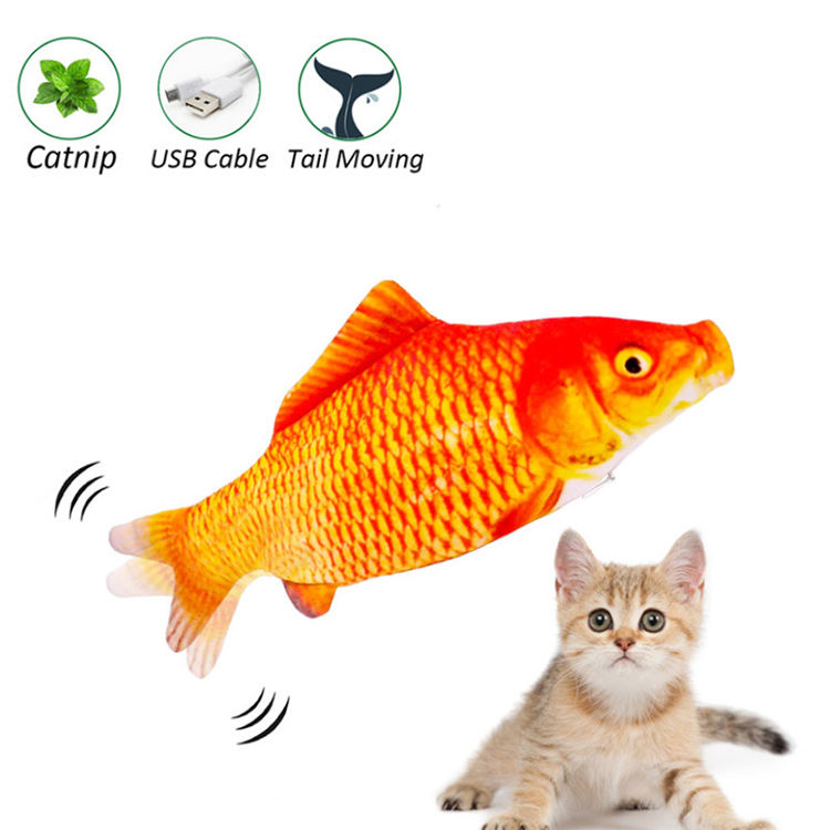 hot sale usb charged 3D simulation fish cat toy with catnip