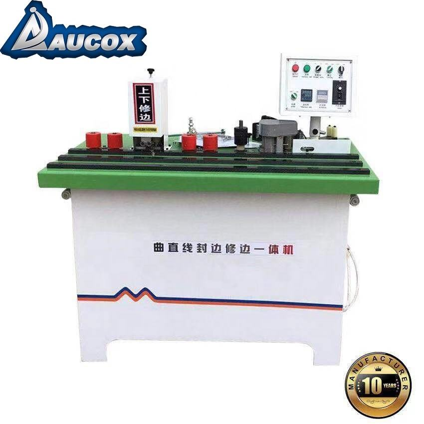 WF12 MDF linear and curve manual edge banding machine manufacturer