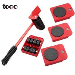 TOCO Rotation Wheels Kit Slider Pad 5 Packs Mover Tool Set Heavy Furniture Appliance Moving