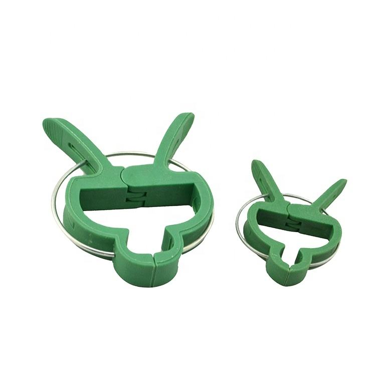 Small and big size Green color plastic garden plant support clip spring clips