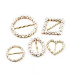 2020 Fancy design apparel buckle  various shaped pearl buckle delicate square belt buckle for clothing