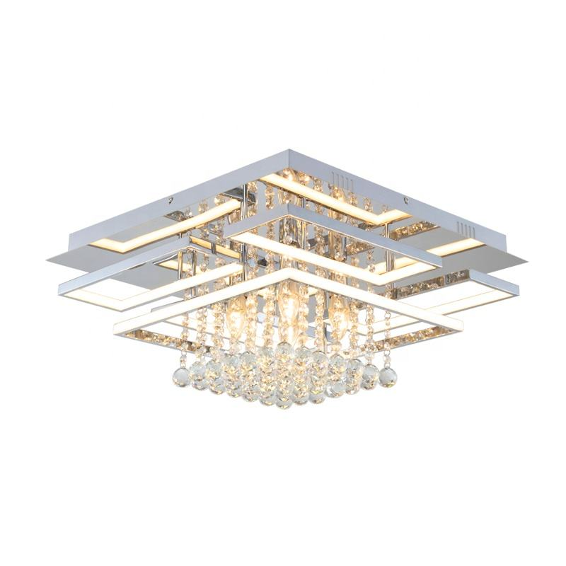 Hot Sale High Quality Crystal Led Ceiling Light For hotel bedroom living room