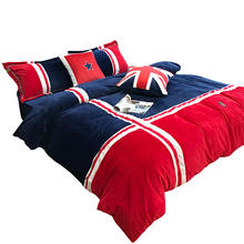 wholesale cheap flannel velvet micro fleece new printing queen king size bed duvet quilt covers bedding set