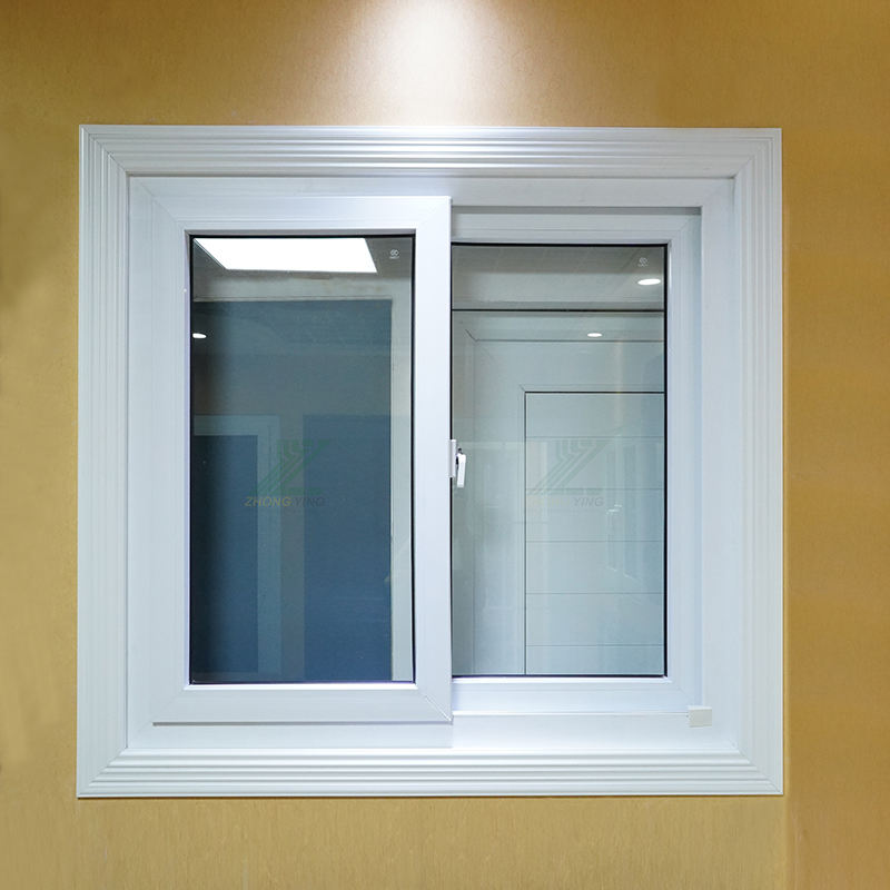 modern cheap price upvc/pvc double glass sliding window and door plastic upvc window