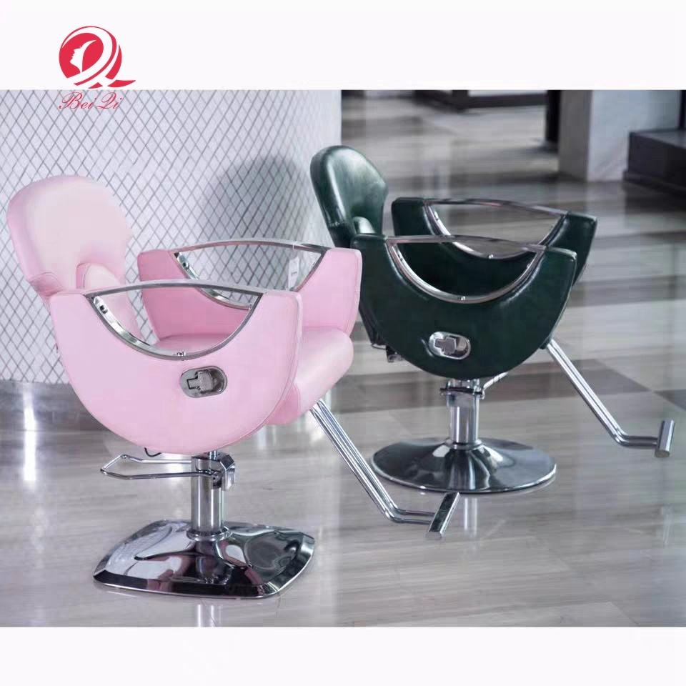 Hot selling beauty salon furniture cheap pink barber chairs for sale styling hairdressing salon
