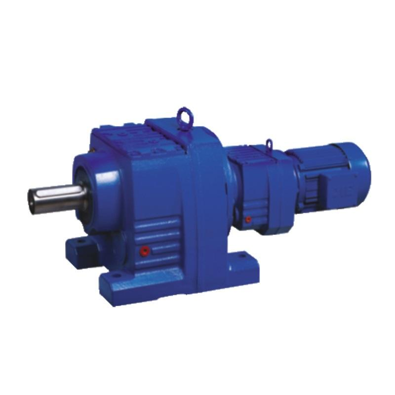 High torque R77 series helical gear reducer ratio 50:1 with 3-phase motor