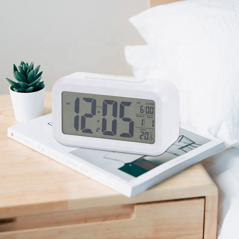 Cheap Wholesale Children Mini Smart Sublimation Travel Clock Digital Table Desk Touch Light Beside Snooze Alarm Clock For Kids