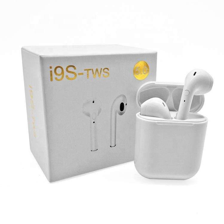 New Arrival TWS BT 5.0 i9s Wireless Earbuds Mini ipx Cool Design Headphones with Charger Case Hook for Android