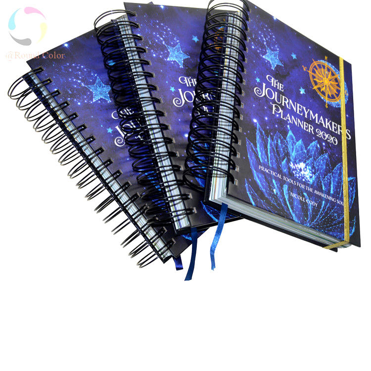 spiral note books a5 with logo print gift planner journal video charging finger print lock journal printing custom luxury