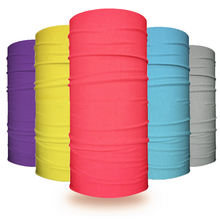 Wholesale Plain Color Microfiber Seamless Tube Face Shield Multifunctional Bandanas Headwear